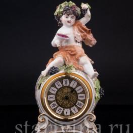 Фарфоровые часы Бахус, Германия,